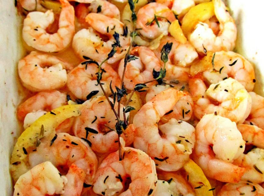 Roasted Lemon Garlic Herb Shrimp Recipe | Just A Pinch Recipes