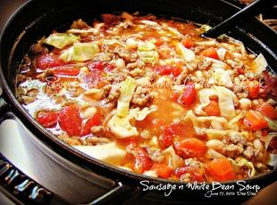 Breakfast Sausage and White Bean Soup Recipe