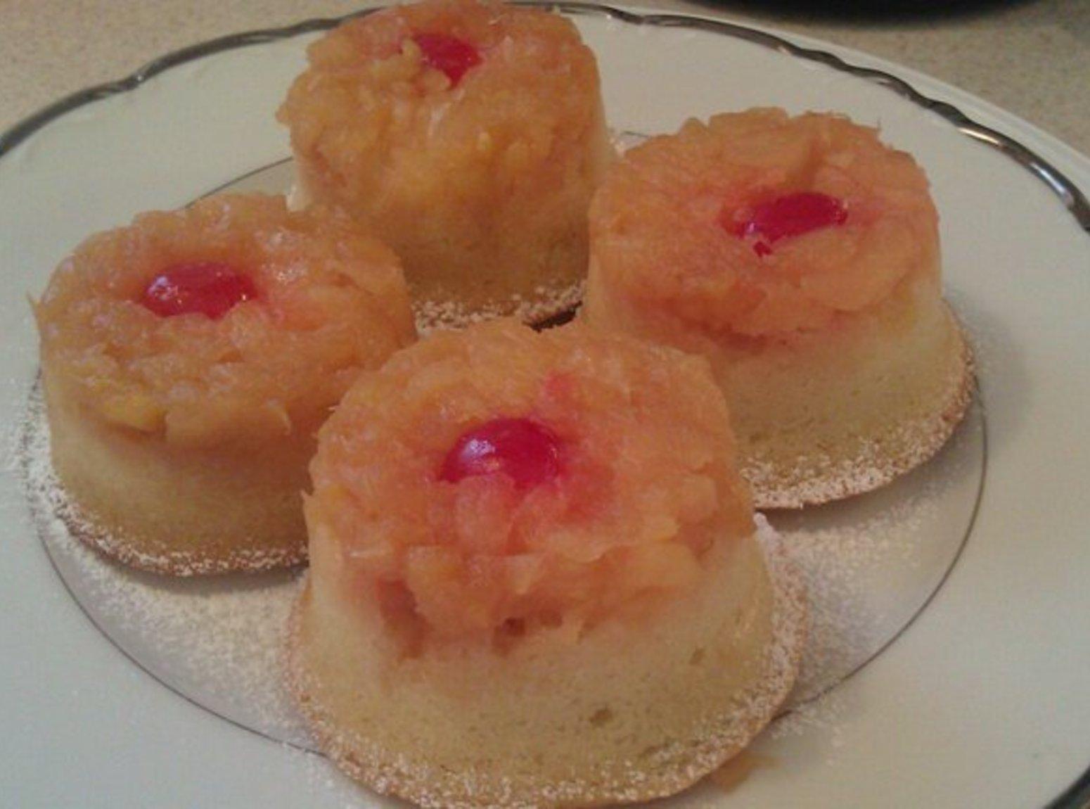 Mini PineApple Upsidedown Cakes Recipe
