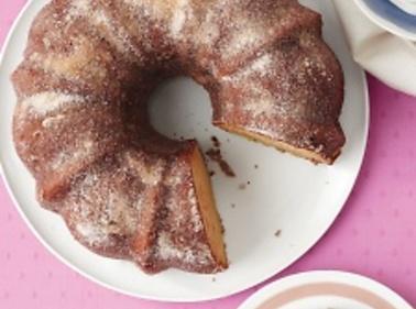 Peaches-and-Cream Bundt Cake Recipe 2 | Just A Pinch Recipes
