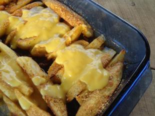 Cheesy Oven Fried Potatoes