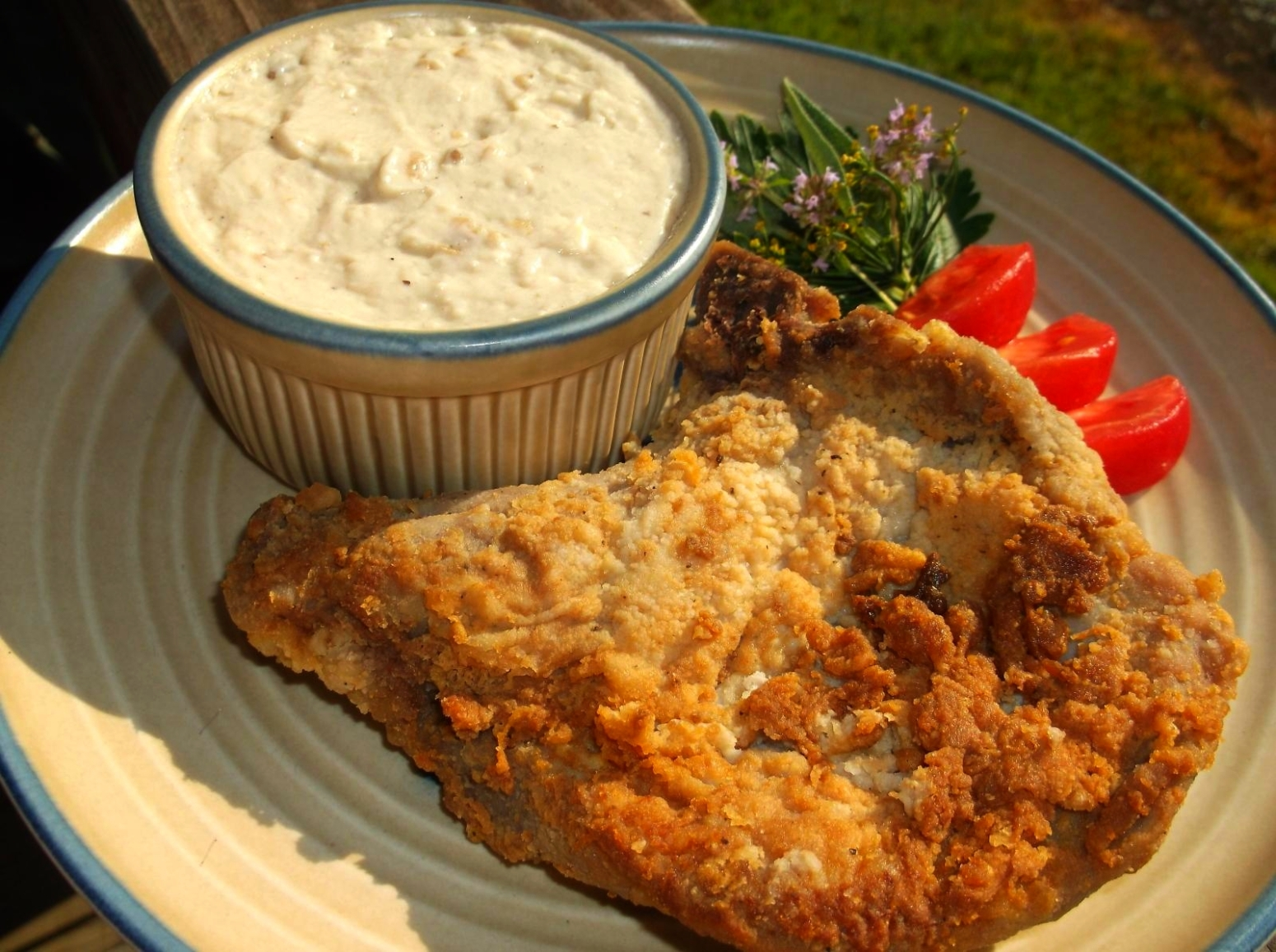 COUNTRY FRIED PORK CHOPS WITH CREAMY MILK GRAVY Recipe | Just A Pinch ...