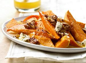 Sweet Potatoes with Pecans and Blue Cheese Recipe | Just A Pinch ...
