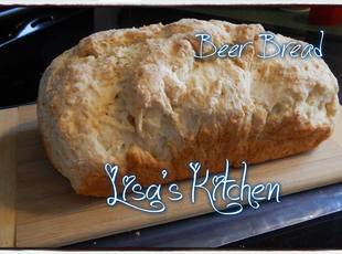 Homemade beer bread. Recipe