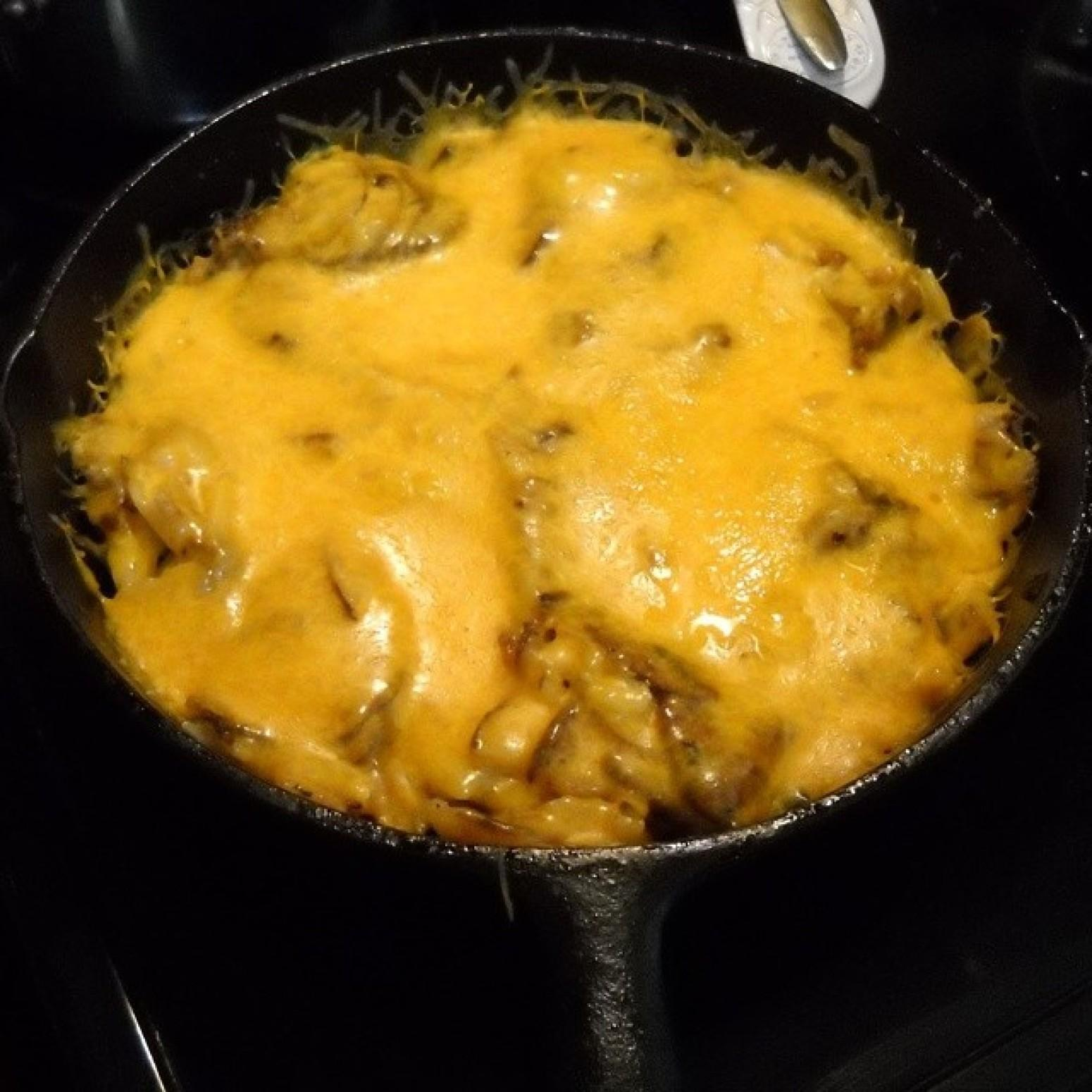 Three Cheese Smothered Potatoes Iris Recipe | Just A Pinch Recipes