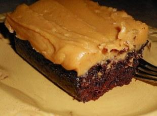 Moist Chocolate Cake with Peanut Butter Icing Recipe