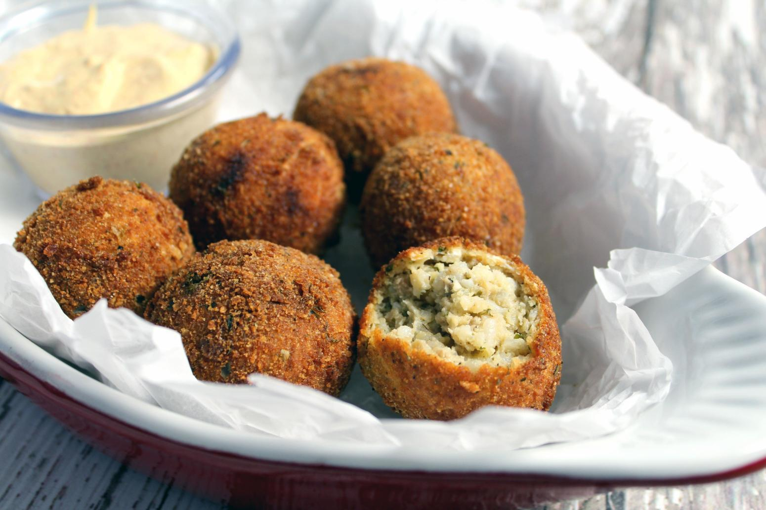 Boudin Balls & Spicy Creole dip my way Recipe | Just A ...