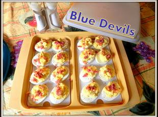 Blue Devils - Deviled Eggs Recipe