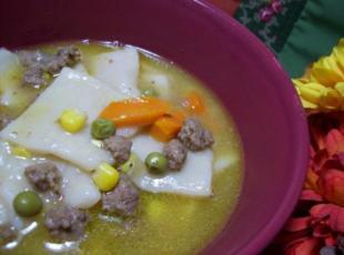 Seasoned Ground Beef And Dumplings With Veggies