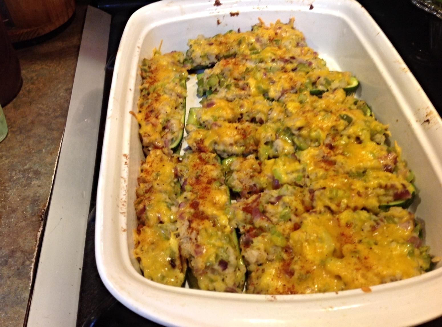 CHEESY STUFFED ZUCCHINI BOATS Recipe | Just A Pinch Recipes