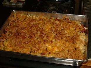 Cheesy  Potato & Green Onion Casserole Recipe