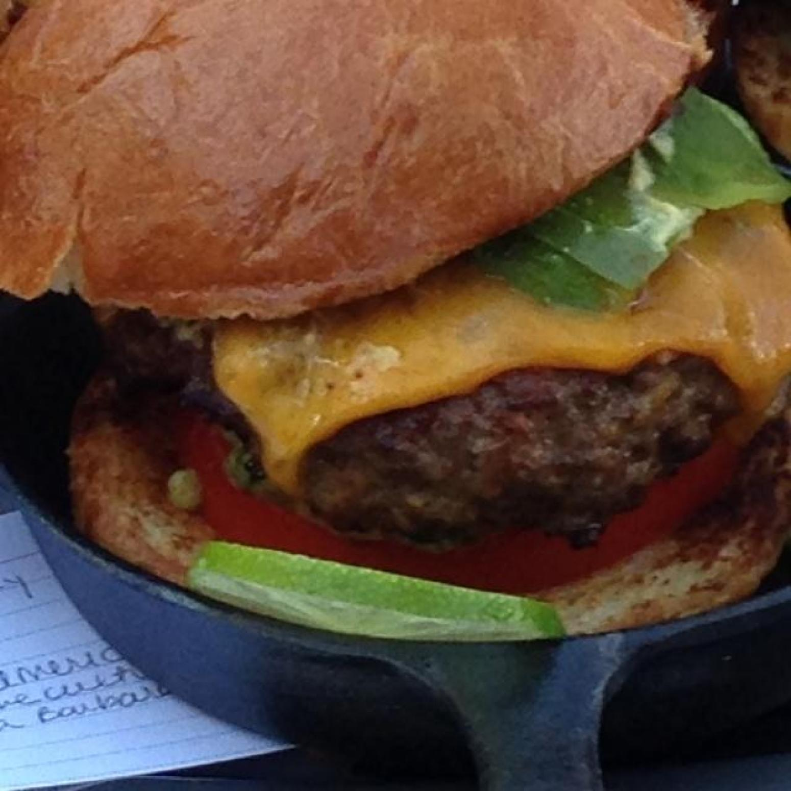 Kicked-up All-American Cheeseburger Recipe | Just A Pinch ...