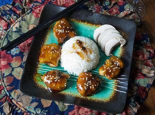 Asian Influence Chicken Bites with Honey Sauce Recipe
