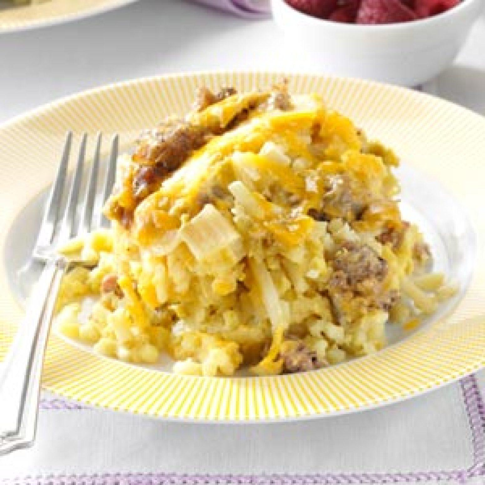 Slow cooker breakfast casserole recipe just a pinch recipes for Slow cooker breakfast recipes for two