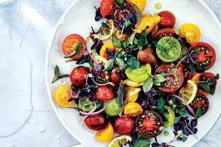 Tomato, Onion, and Roasted Lemon Salad Recipe