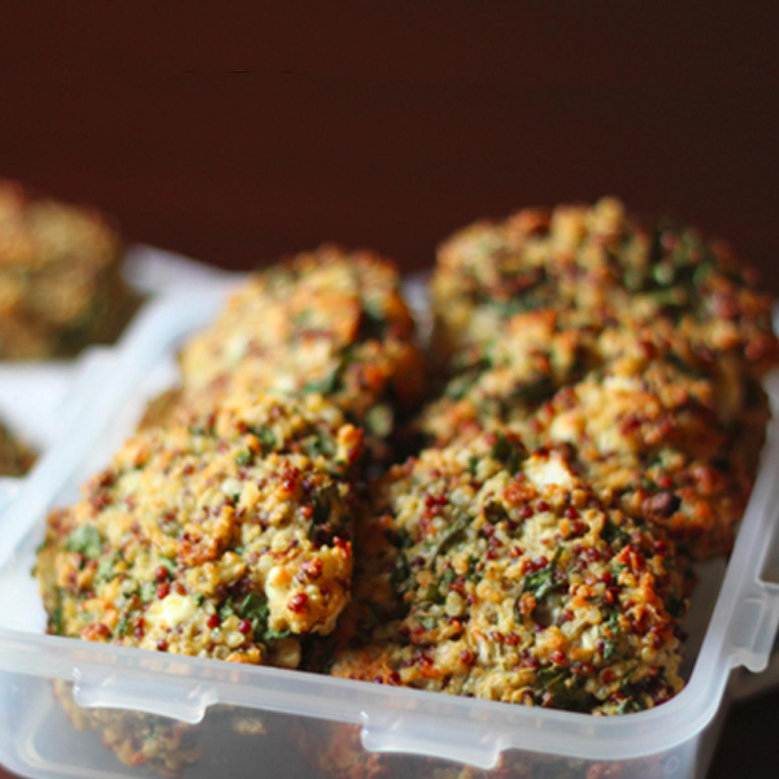 Baked Kale and Quinoa Patties Recipe | Just A Pinch Recipes