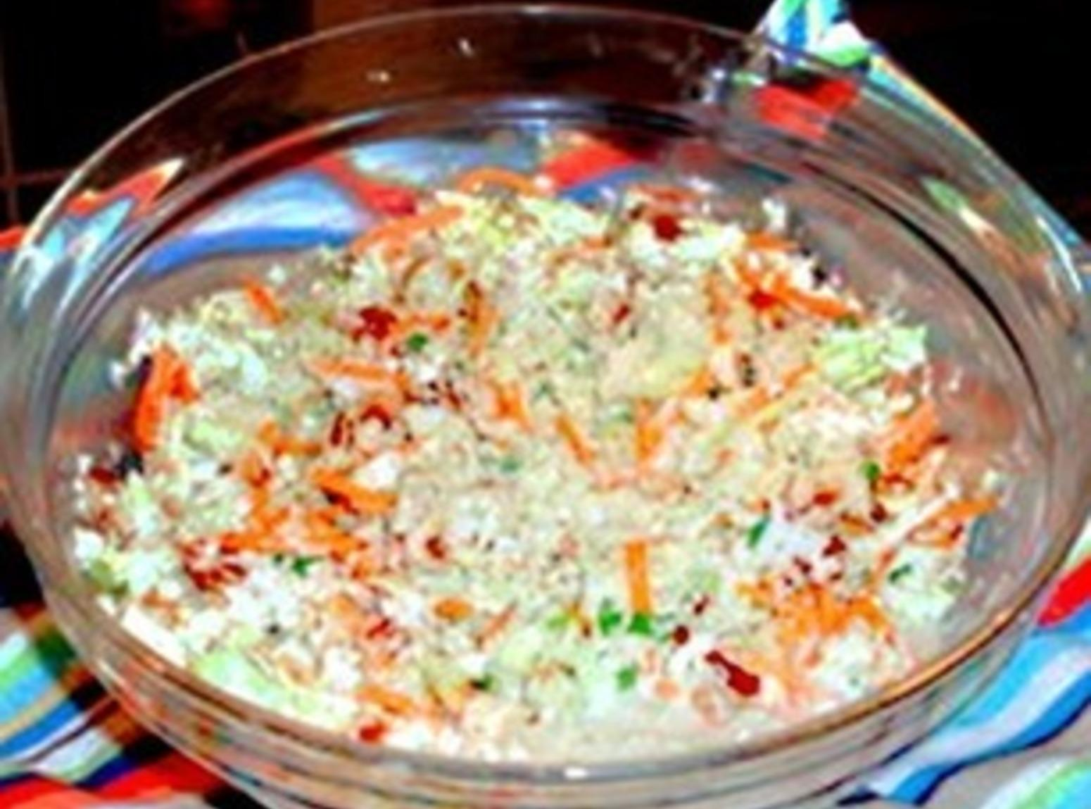 Bleu Cheese and Bacon Coleslaw Recipe | Just A Pinch Recipes