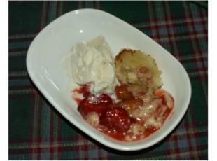 Rhubarb and Strawberry Cobbler Recipe