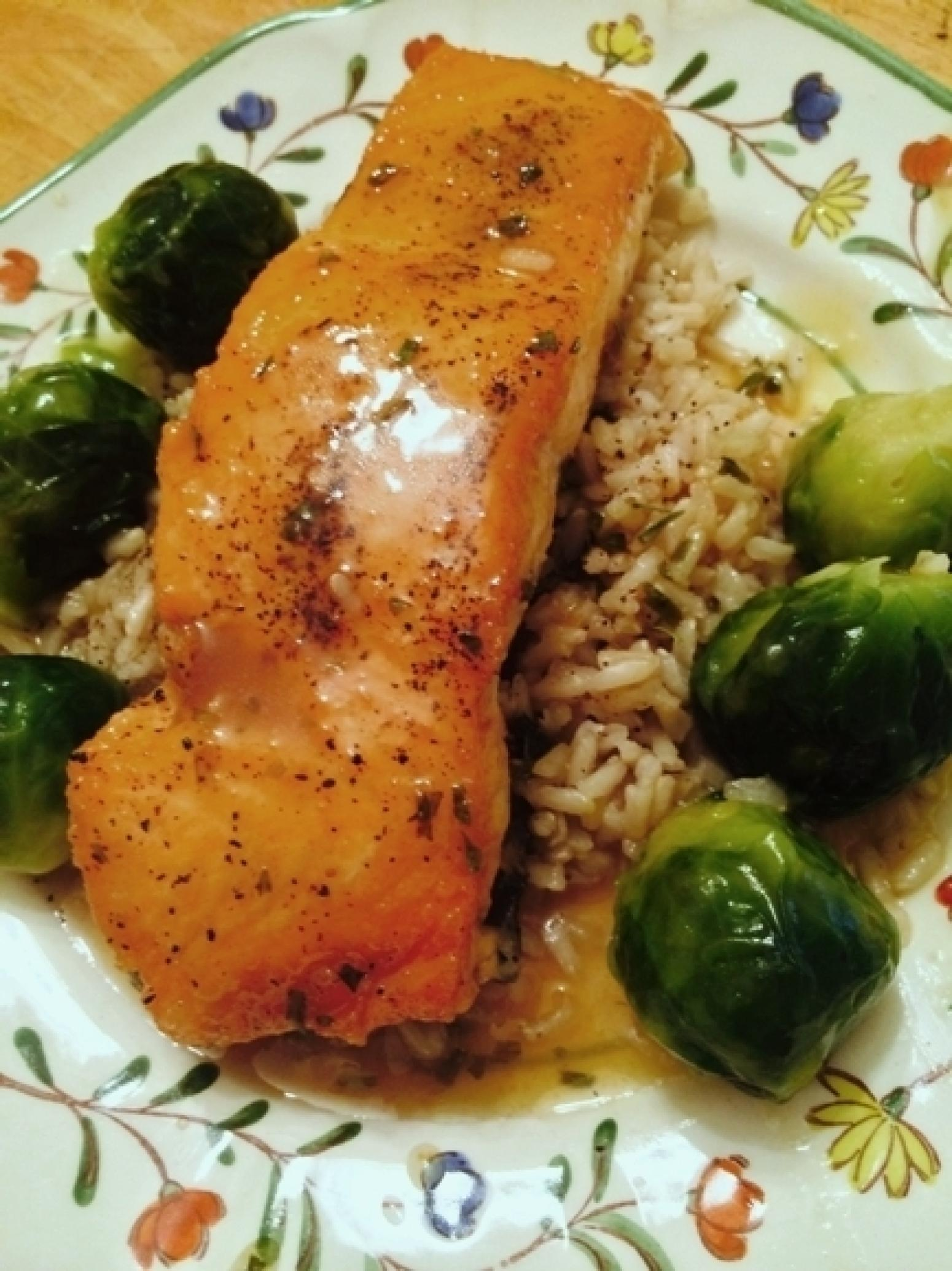 Salmon With Honey Lime Butter Sauce Recipe Just A Pinch Recipes