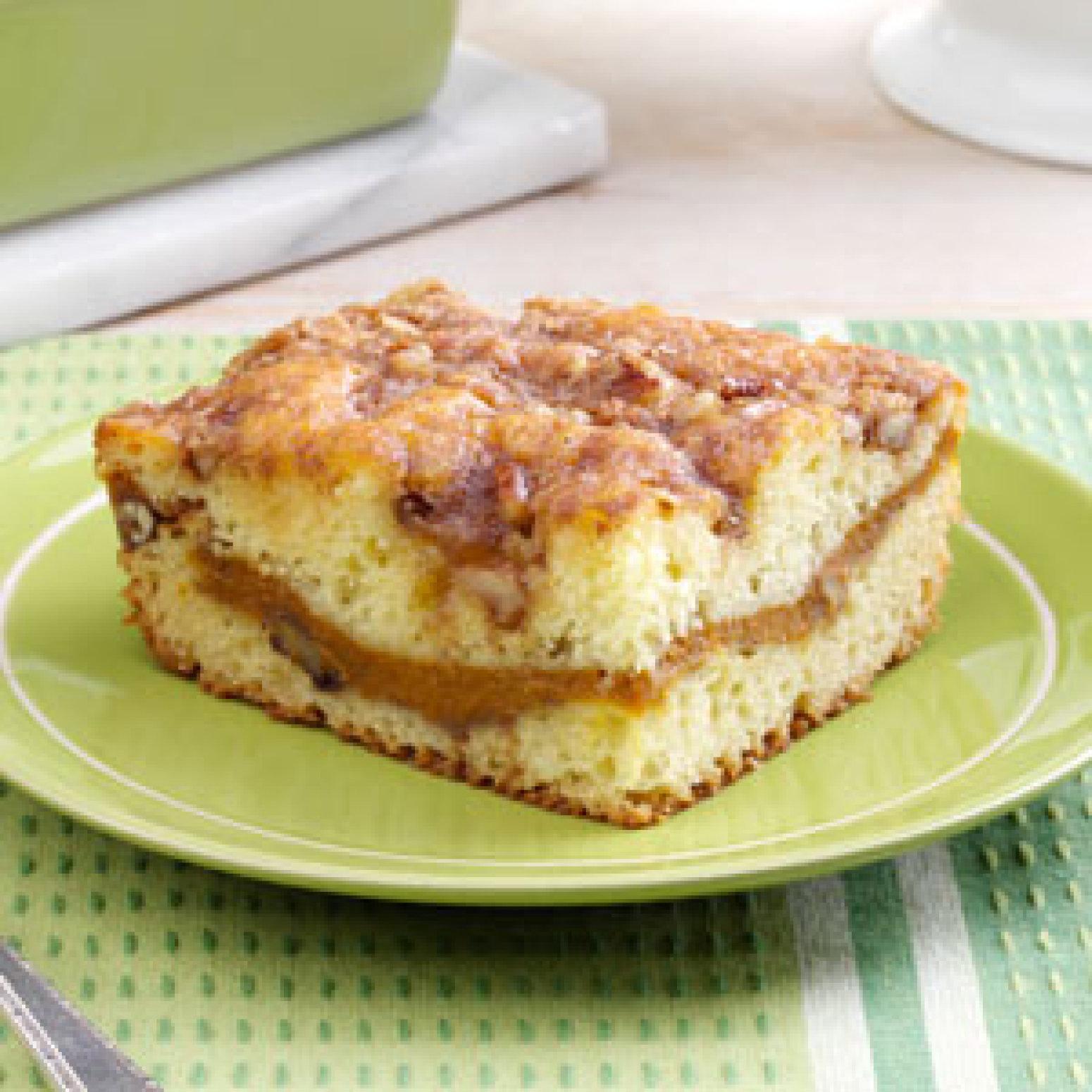 Sour Cream-Pumpkin Coffee Cake Recipe | Just A Pinch Recipes