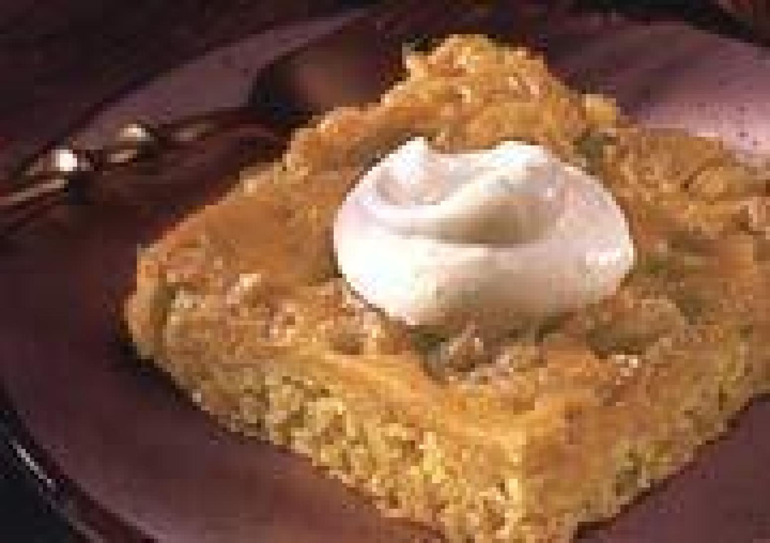 Pumpkin Spice Dessert with Spiced Whipped Cream Recipe | Just A Pinch ...