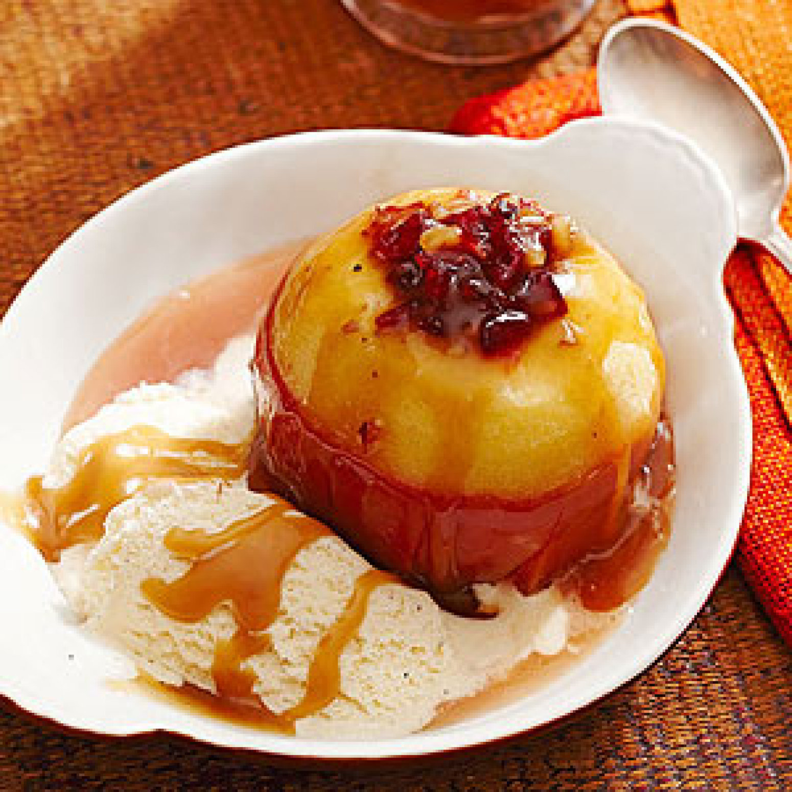 Cider-Baked Stuffed Apples with Salty Caramel Sauce Recipe ...