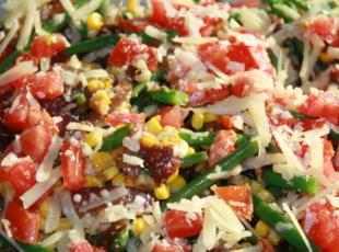 Roasted Corn with Green Beans and Red Onions Recipe