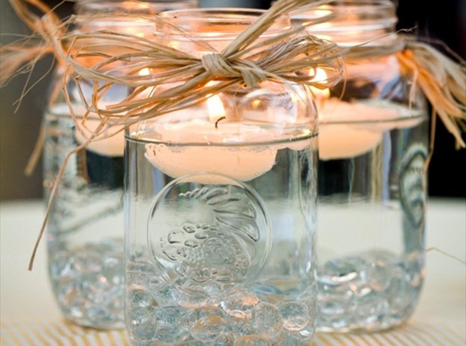 DIY Mason Jar Floating Candles Recipe