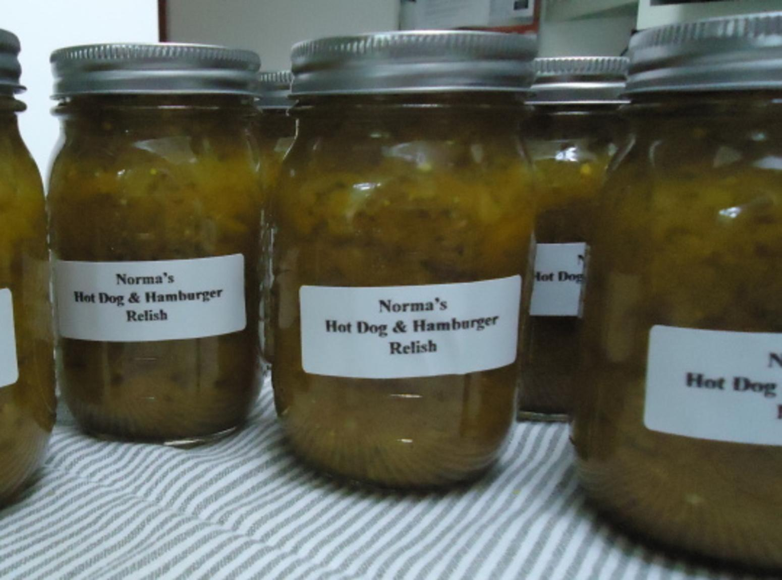 Norma's Hot Dog & Hamburger Relish Recipe