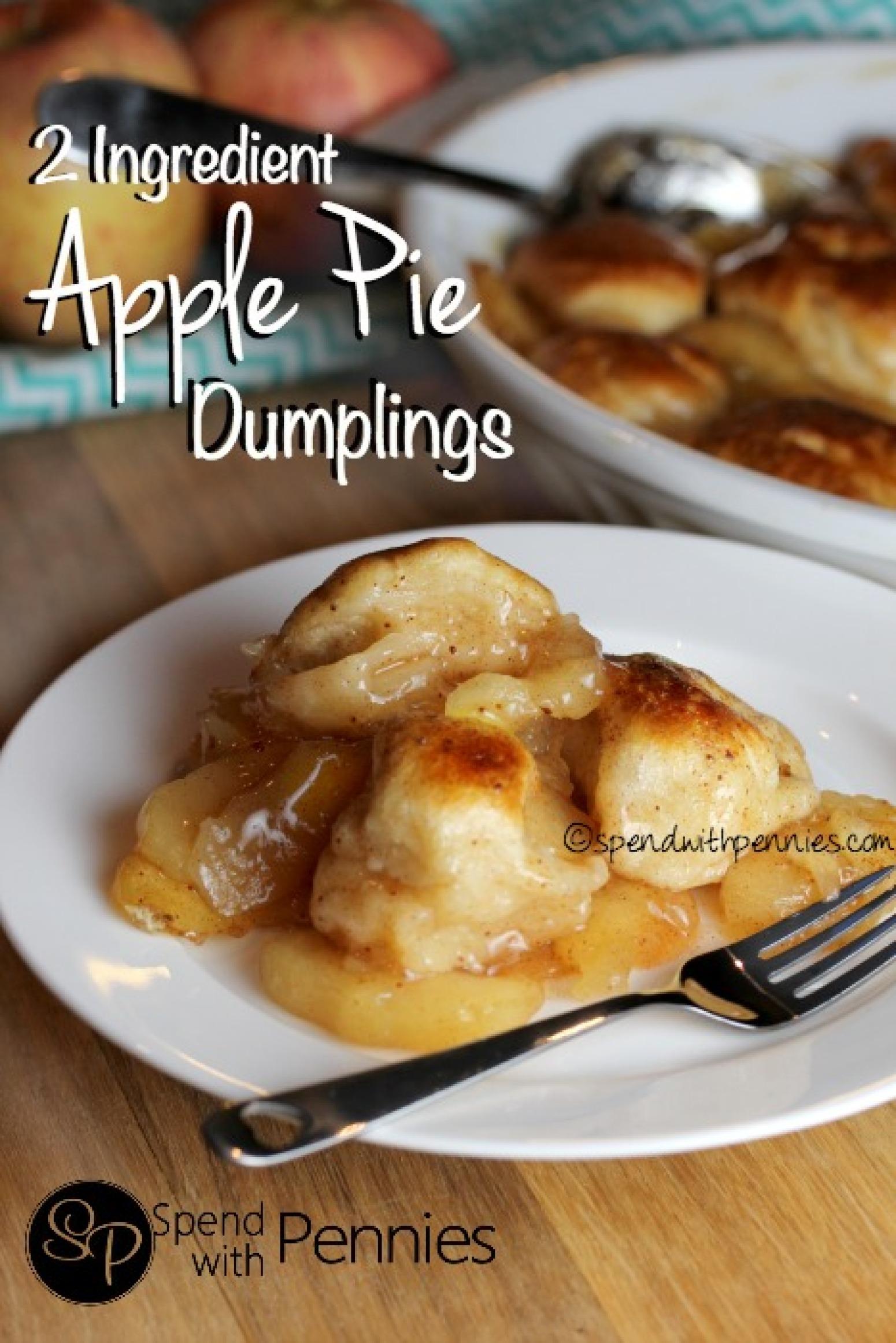 Apple Pie Dumplings 2 Ingredients Recipe 9 | Just A Pinch Recipes