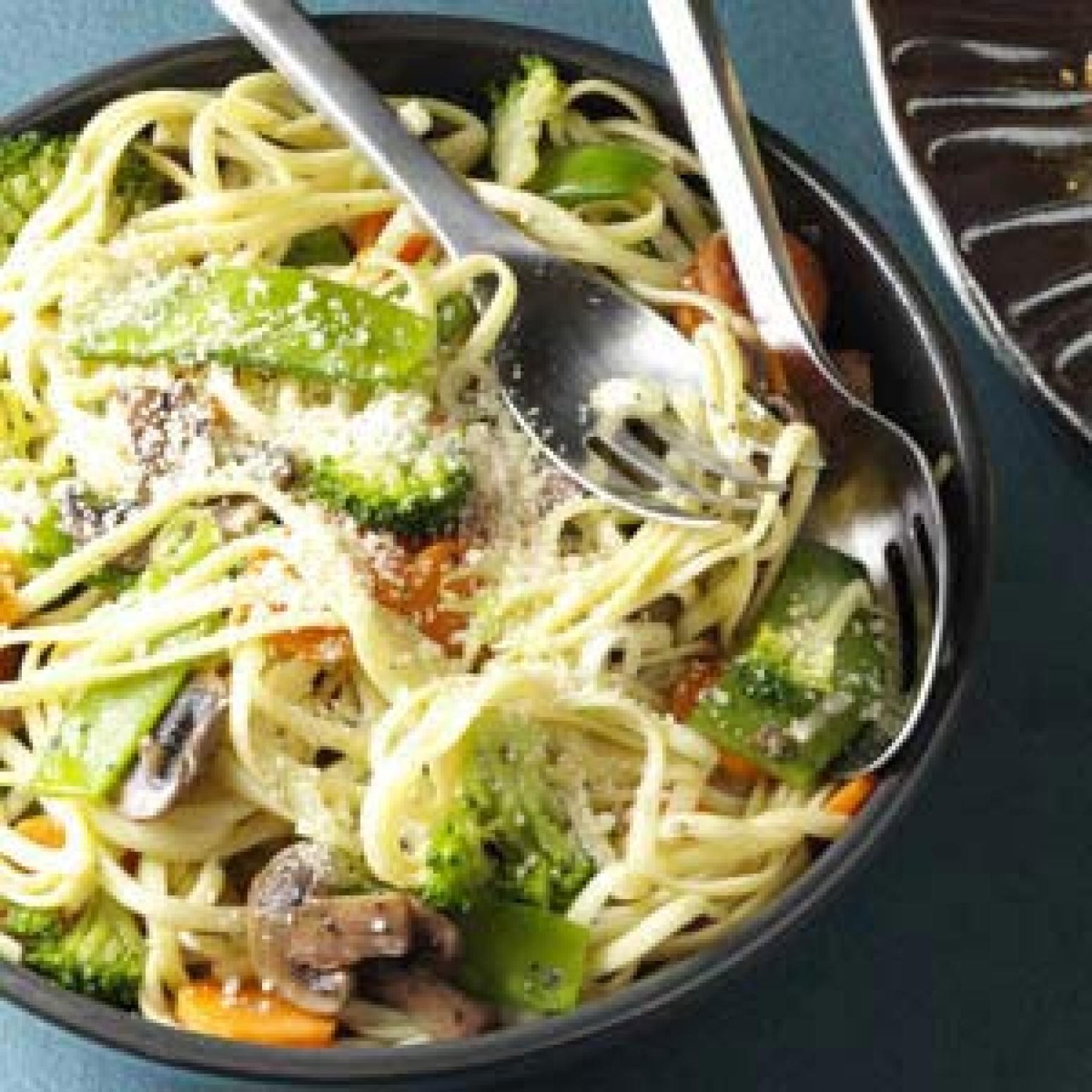 Broccoli Veggie Pasta Primavera Recipe | Just A Pinch Recipes
