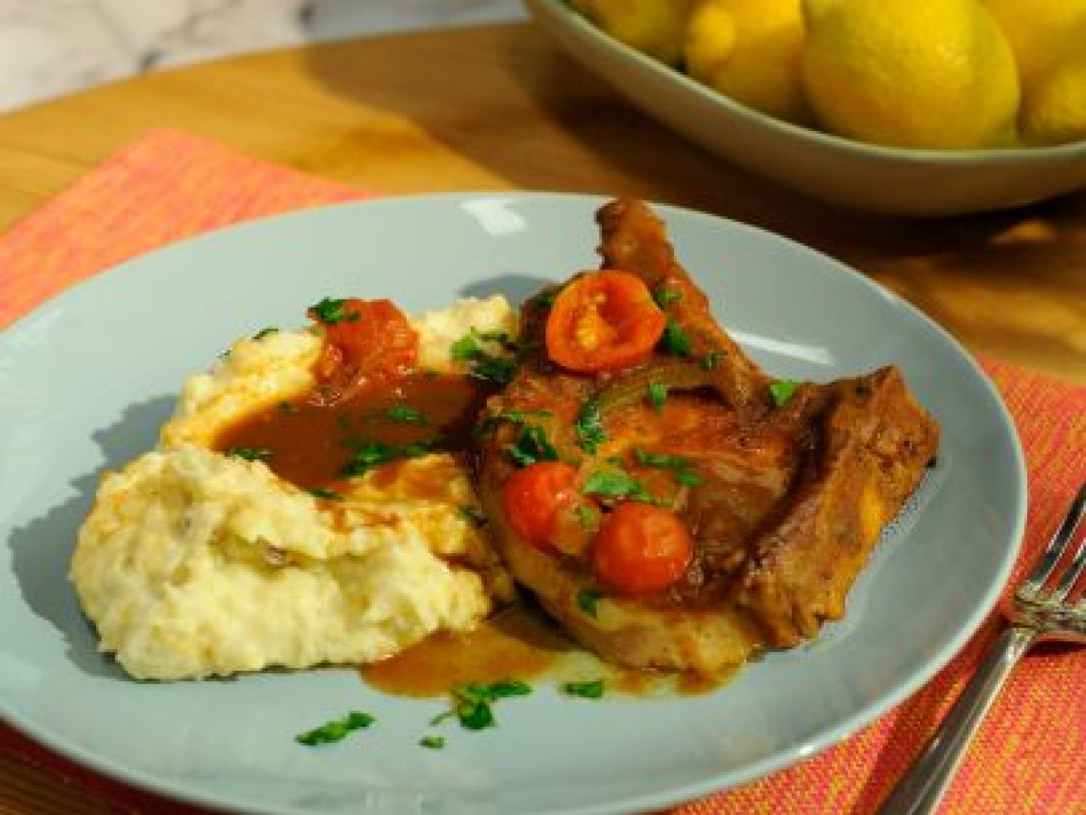Sunny's Apple Butter Braised Pork Chops Recipe | Just A Pinch Recipes