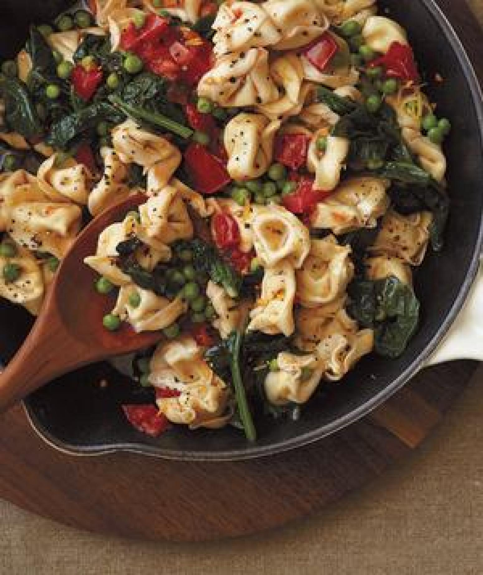 Tortellini with Spinach and Brown Butter Recipe | Just A Pinch Recipes
