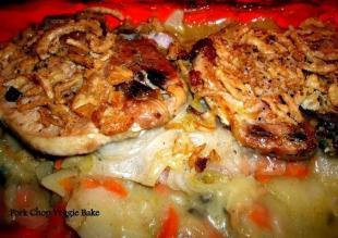 Pork Chop ~ Veggie Bake