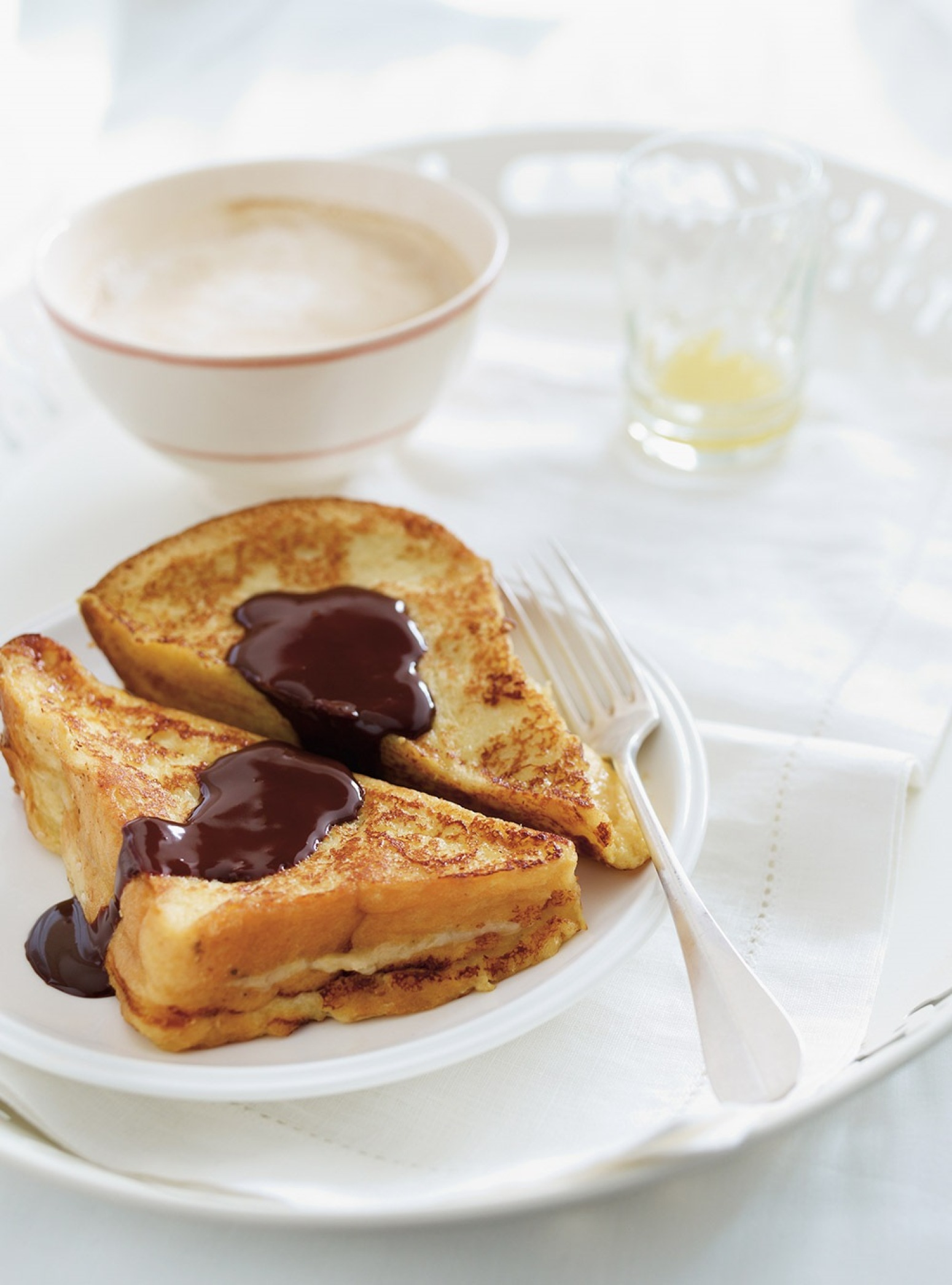 Caramelized Banana French Toast with Chocolate Sauce Recipe 2 | Just A ...