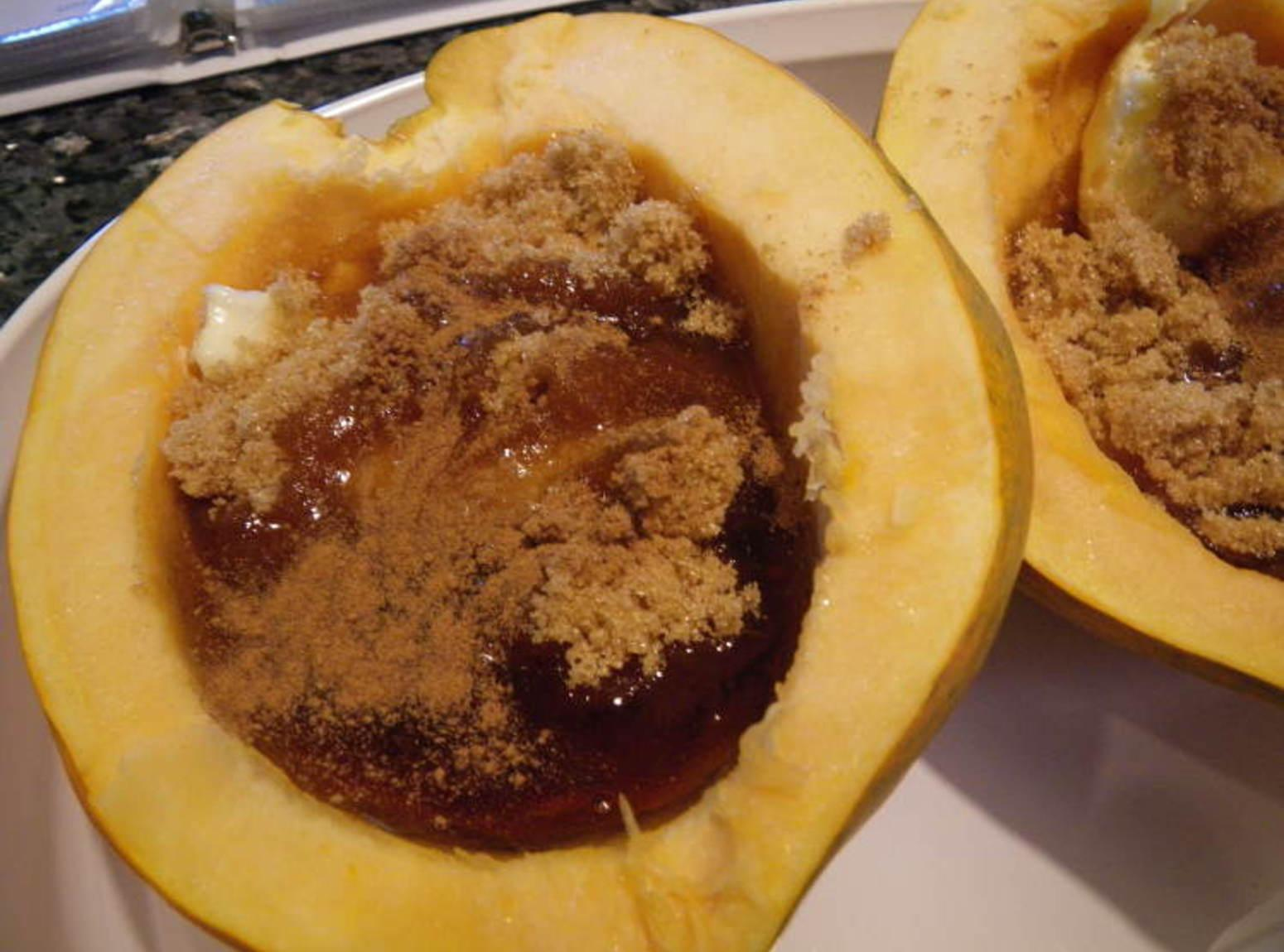 Acorn squash with maple syrup Recipe