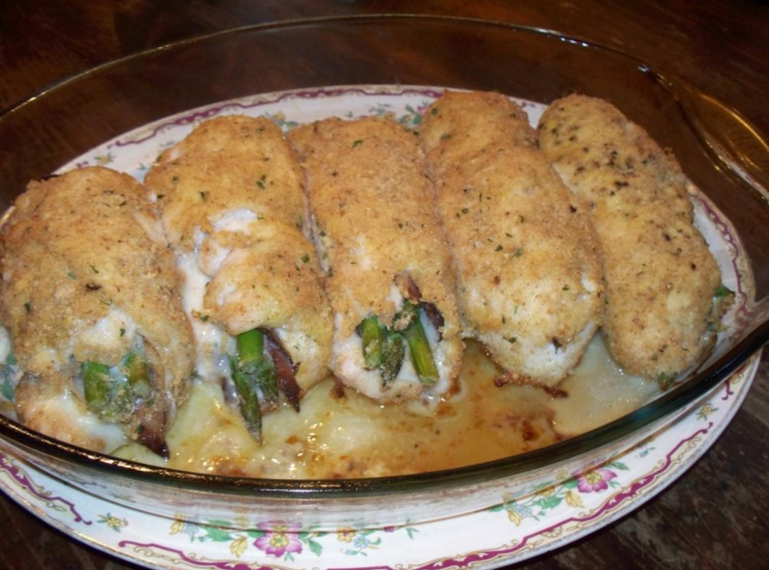 Asparagus - Prosciutto Stuffed Chicken Rolls Recipe | Just A Pinch ...