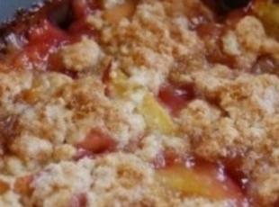 Cranberry Peach Cobbler Crisp Recipe