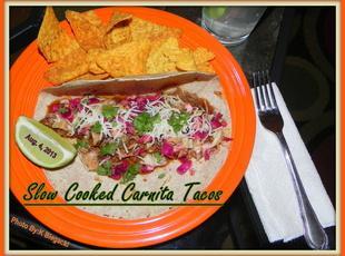 Slow Cooked Carnita Tacos Recipe