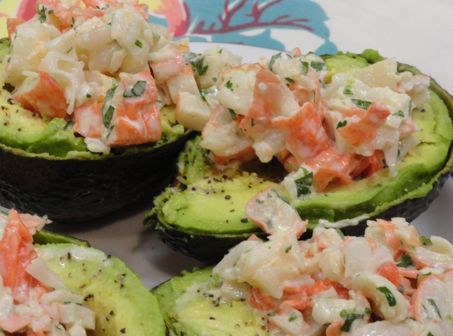Cilantro And Lime Crab Salad In Avocado Halves Recipe — Dishmaps