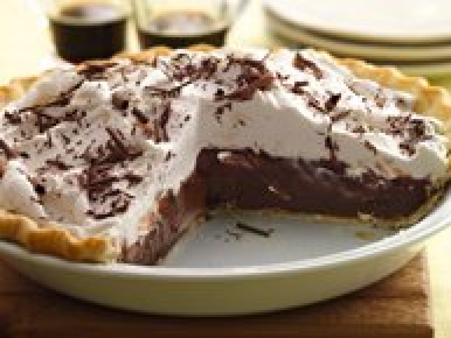 Dark Chocolate Stout Cream Pie Recipe | Just A Pinch Recipes