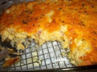 Cheesy Hashbrowns & Ham ~ So Tasty!