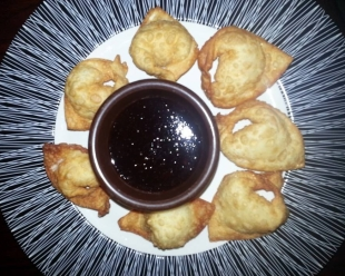 Crab Rangoon with a simple Plum Sauce Recipe