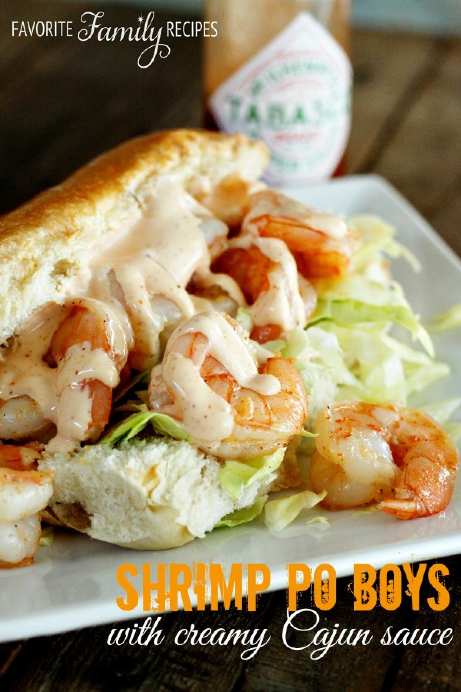 Shrimp Po Boys with Creamy Cajun Sauce Recipe | Just A ...