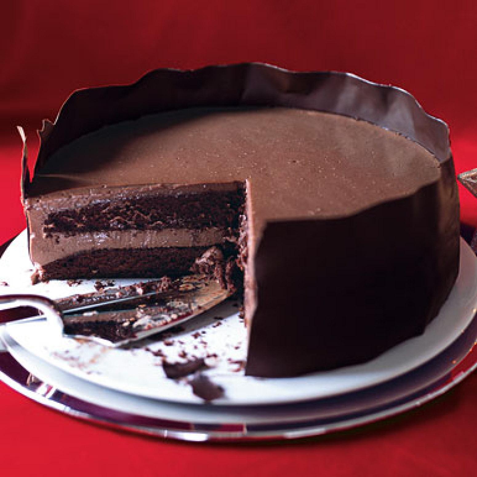 Chocolate Panna Cotta Layer Cake Recipe Epicuriouscom ...