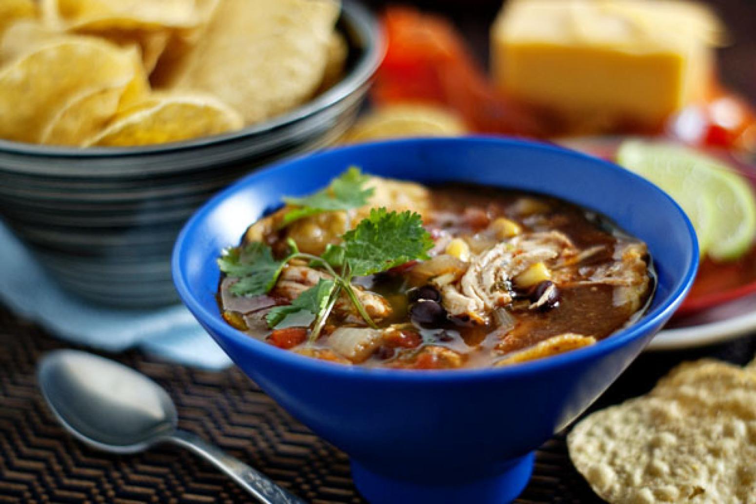 Fiesta Slow-Cooker Chicken Tortilla Soup Recipe 2 | Just A Pinch ...