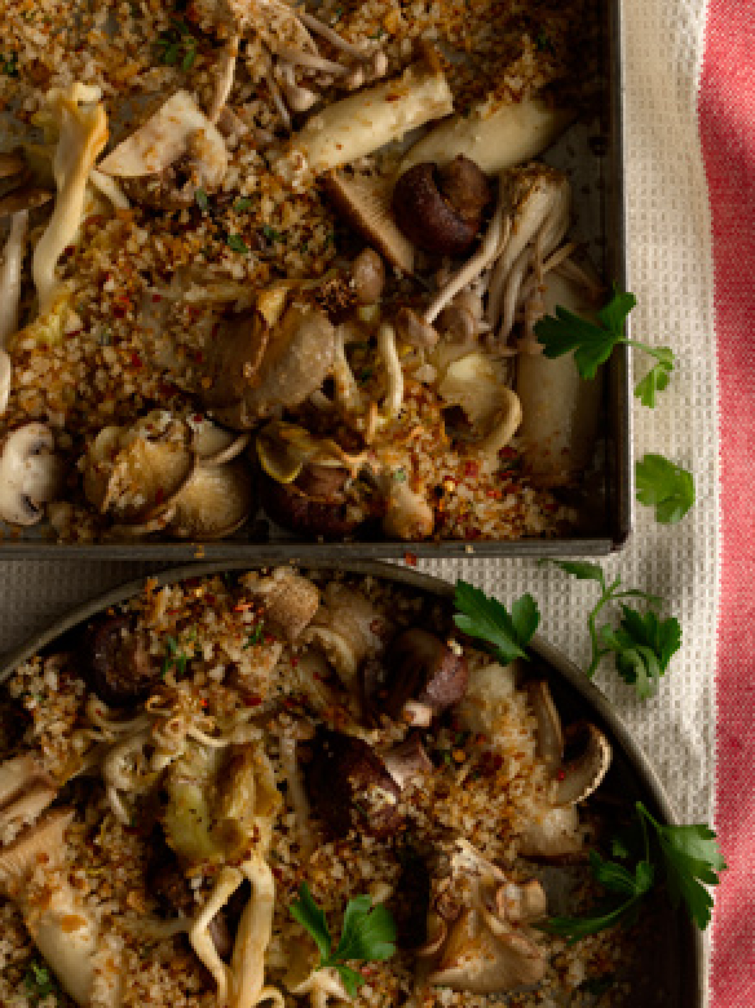 Roasted Mushrooms with Spicy Breadcrumbs Recipe Epicuriouscom | Just A ...