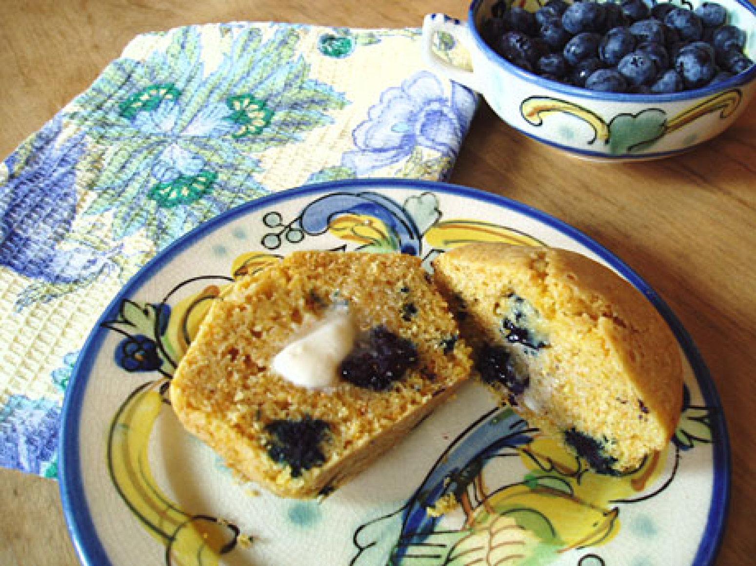 Gluten-Free Blueberry Corn Muffins Recipe | Epicurious.com | Just A ...