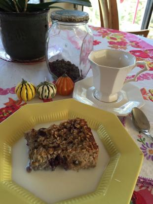 Oven Baked Oatmeal Recipe