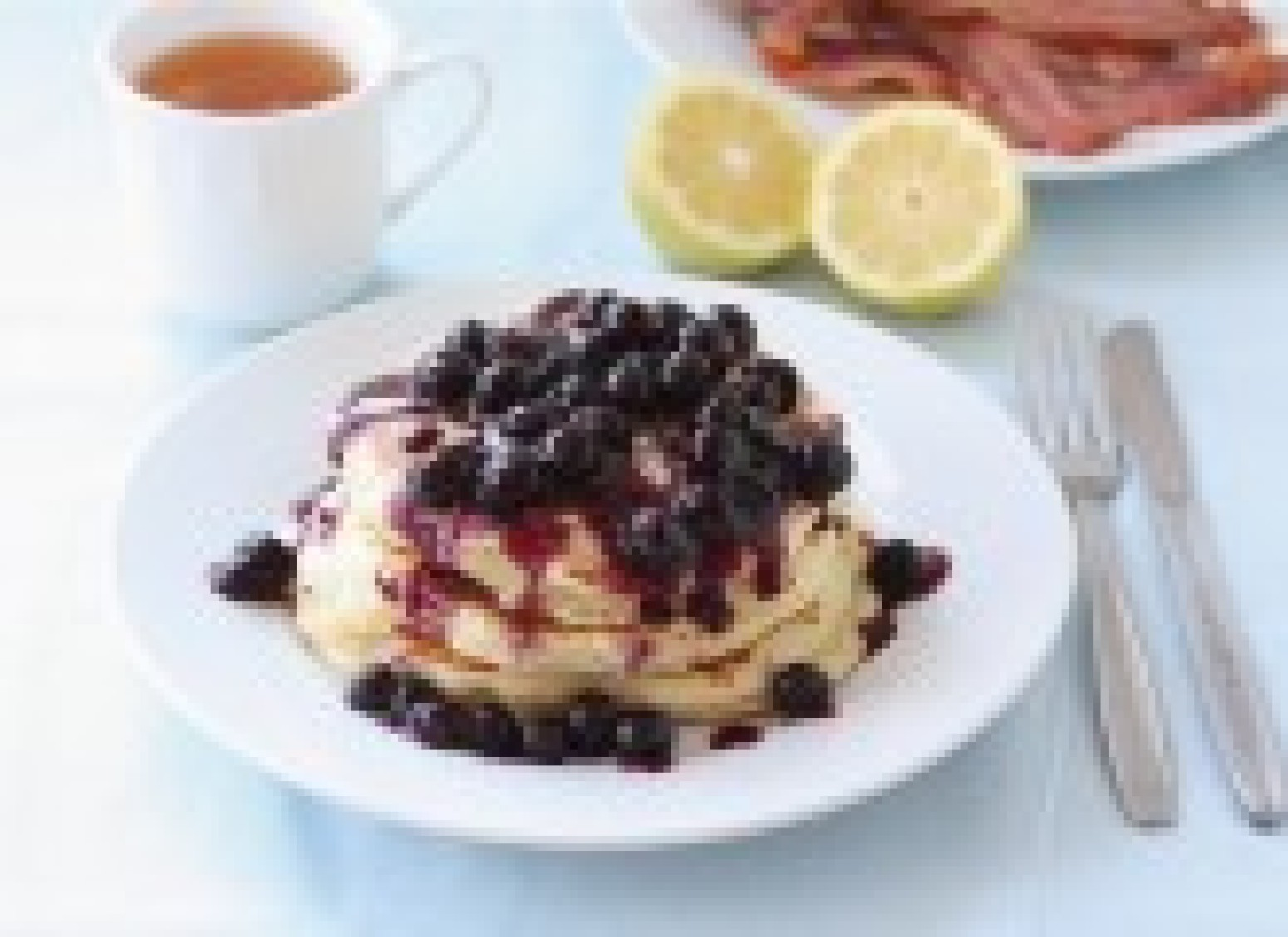 Lemon Ricotta Pancakes with Blueberry Sauce Recipe 2   Just A Pinch ...